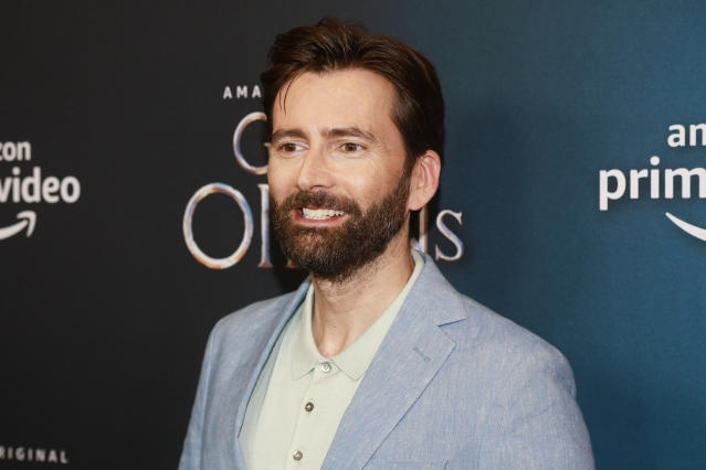 """David Tennant attends the premiere of Amazon Prime Video's """"Good Omens"""" at the Whitby Hotel on Thursday, May 23, 2019, in New York. (Photo by Andy Kropa/Invision/AP)"""
