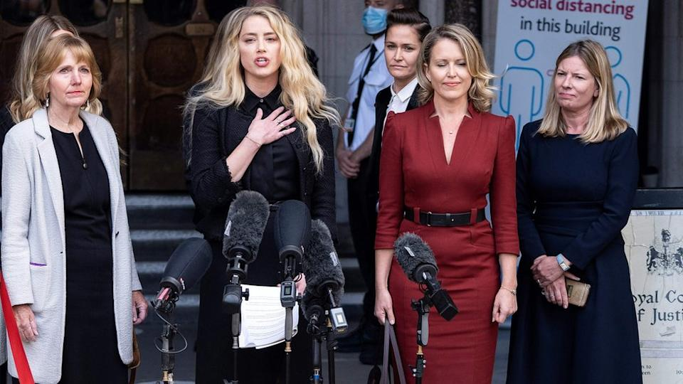 Amber Heard and her team