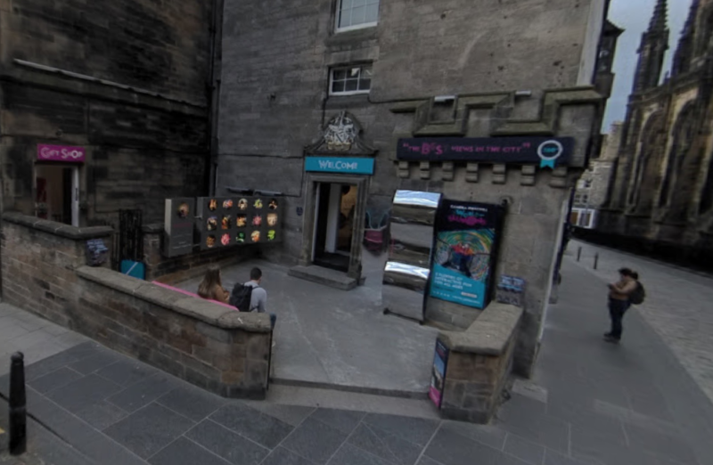 The photo was taken at Edinburgh's Camera Obscura & World of Illusions. (Google)