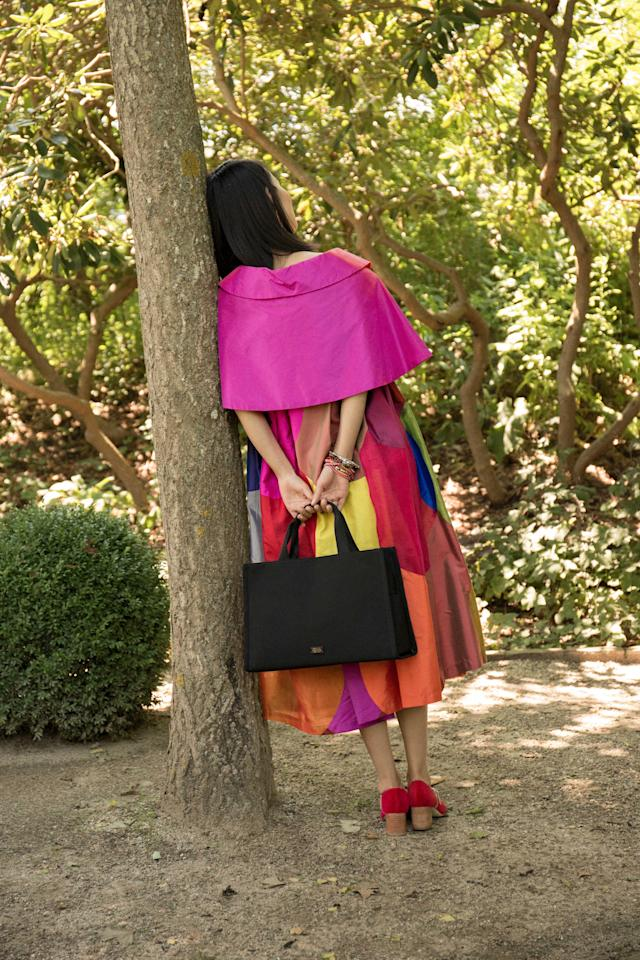 Kate Spade's iconic bag, re-issued by Frances Valentine, is called the Kate bag. (Photo: Frances Valentine)