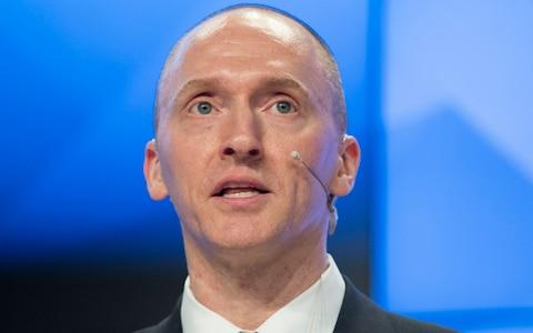 Carter Page, the former Trump campaign foreign policy adviser who was wiretapped before the 2016 US election - Credit: AP Photo/Pavel Golovkin