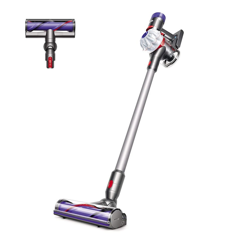 """<br><br><strong>Dyson</strong> V7 Allergy HEPA Cord-Free Stick Vacuum Cleaner, $, available at <a href=""""https://amzn.to/3wsPMwd"""" rel=""""nofollow noopener"""" target=""""_blank"""" data-ylk=""""slk:Amazon"""" class=""""link rapid-noclick-resp"""">Amazon</a>"""
