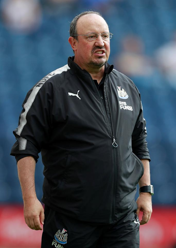Soccer Football - Preston North End vs Newcastle United - Pre Season Friendly - June 22, 2017   Newcastle United manager Rafael Benitez reacts   Action Images via Reuters/Jason Cairnduff