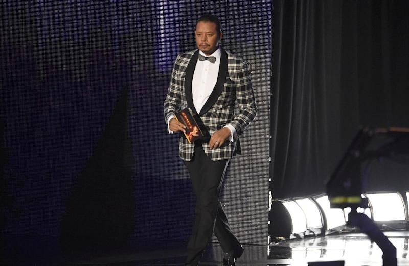 Terrence Howard presents an award at the 68th Primetime Emmy Awards on Sunday, Sept. 18, 2016, at the Microsoft Theater in Los Angeles. (Photo by Chris Pizzello/Invision/AP)