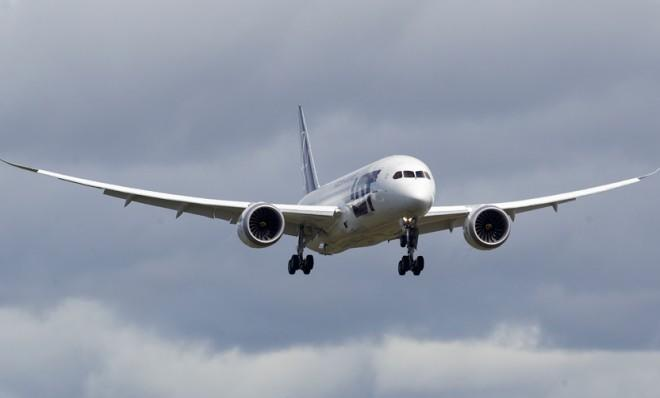 Boeing conducts a 787 battery certification demonstration flight on April 5.