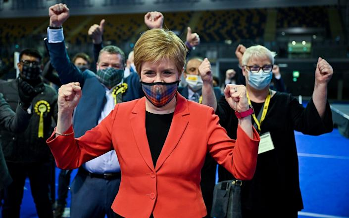 The SNP bombarded its supporters with texts and emails addressed from Nicola Sturgeon on election day - Jeff J Mitchell/Getty Images Europe