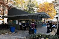 <p>What started as a wildly popular hot dog cart in New York City's Madison Square Park grew to Shake Shack's first permanent kiosk, which opened in June 2004. A daily line wrapping around the park is what inspired the brand to franchise.</p>