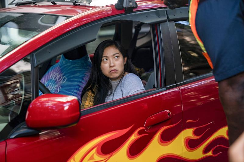 """Nora (Awkwafina) moves out of her family's house and sleeps in her car in the first episode of """"Awkwafina is Nora from Queens."""""""