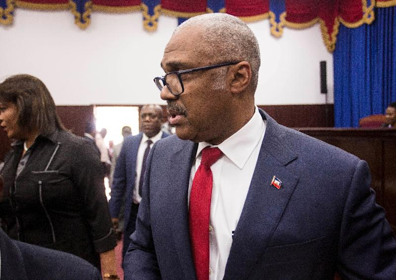 Haiti Prime Minister Jack Guy Lafontant had faced widespread criticism even before deadly unrest sparked by a now-abandoned plan to raise fuel prices (AFP Photo/Pierre Michel Jean)