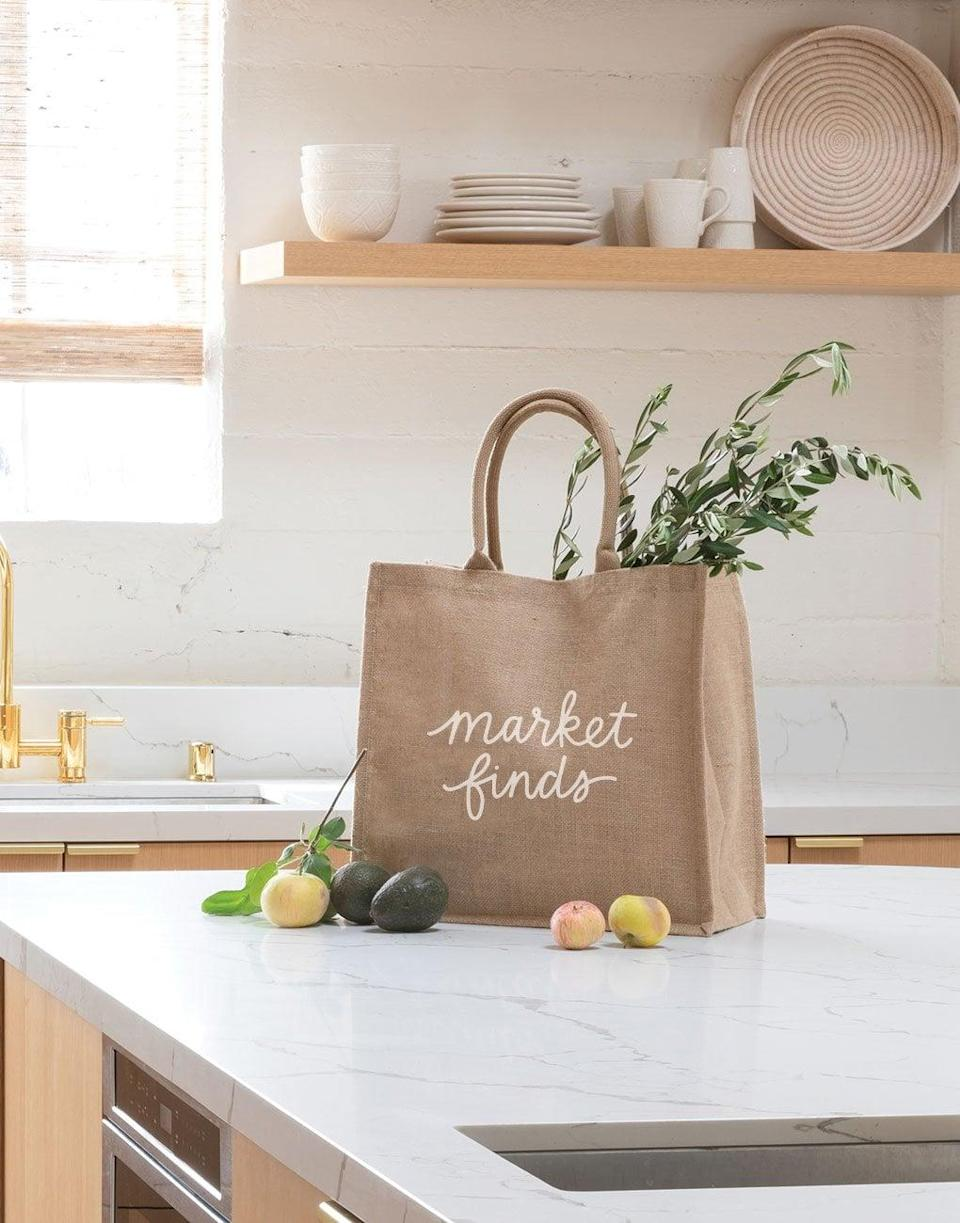 <p>This cute <span>Market Finds Reusable Shopping Bag</span> ($22) can be used every time you go to the grocery store.</p>