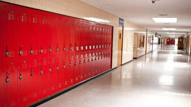 PHOTO: In this undated file photo, lockers in a high school hallway are shown. (STOCK PHOTO/Getty Images)