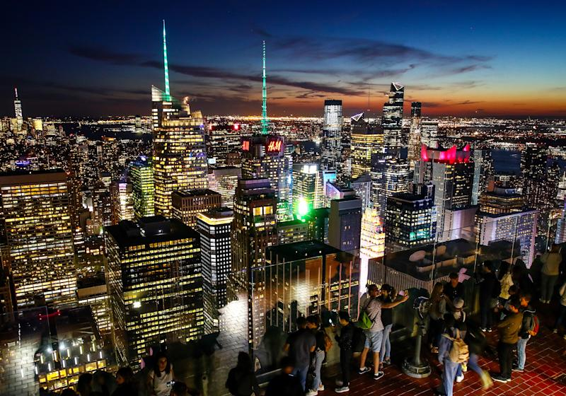 NEW YORK CITY, USA SEPTEMBER 27, 2019: A view of Manhattan from an observation deck at the Rockefeller Center. Valery Sharifulin/TASS (Photo by Valery Sharifulin\TASS via Getty Images)