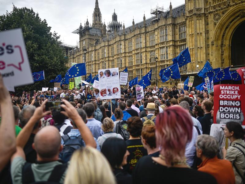 Protests planned as PM's Brexit plan faces opposition