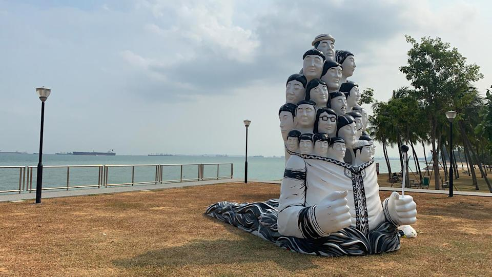 Speak Cryptic's first 3D large scale artwork Crossing Shores explores the theme of migration and multi-culturalism, an important aspect of Singapore's history. (PHOTO: National Arts Council)