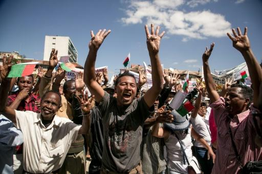 Protests organised by opposition deputies in Madagascar have been calling for the resignation of the president, who on Sunday declared he would not step down