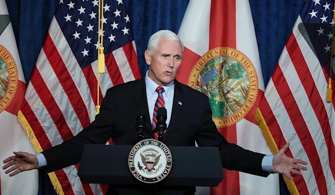 US Vice-President Mike Pence, shown in Florida on Thursday, is one of several administration officials who have deferred action on China's human rights record. Photo: Orlando Sentinel via TNS