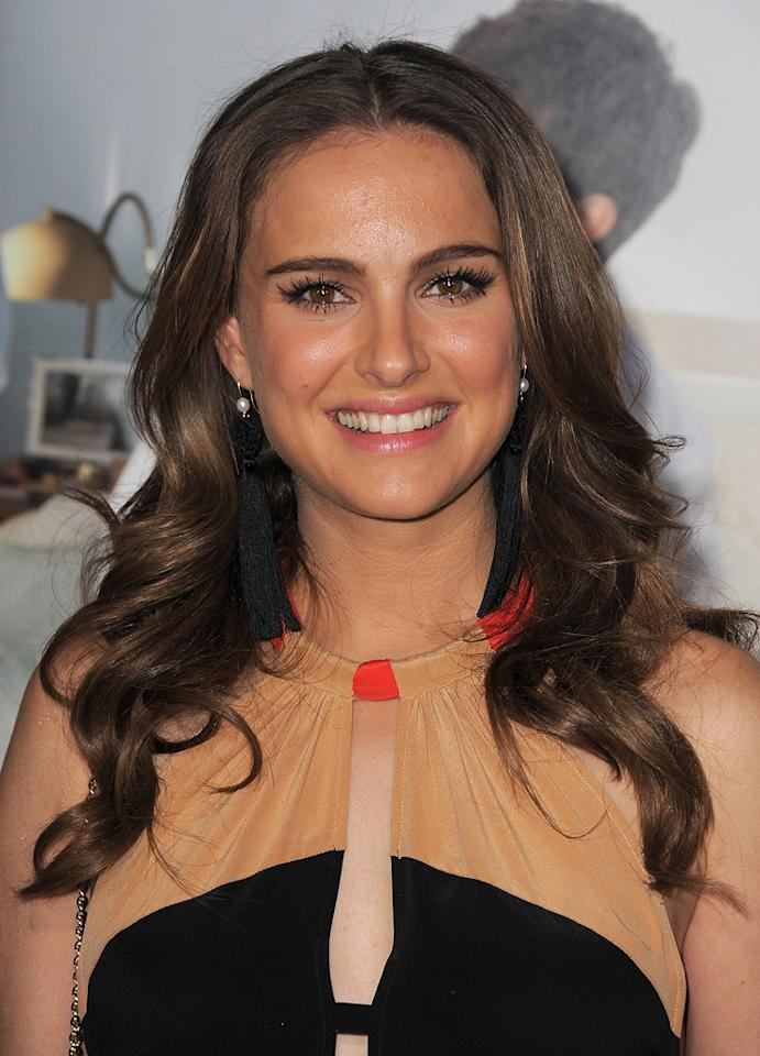 """<a href=""""http://movies.yahoo.com/movie/contributor/1800020300"""">Natalie Portman</a> attends the Los Angeles premiere of <a href=""""http://movies.yahoo.com/movie/1810159162/info"""">No Strings Attached</a> on January 11, 2011."""