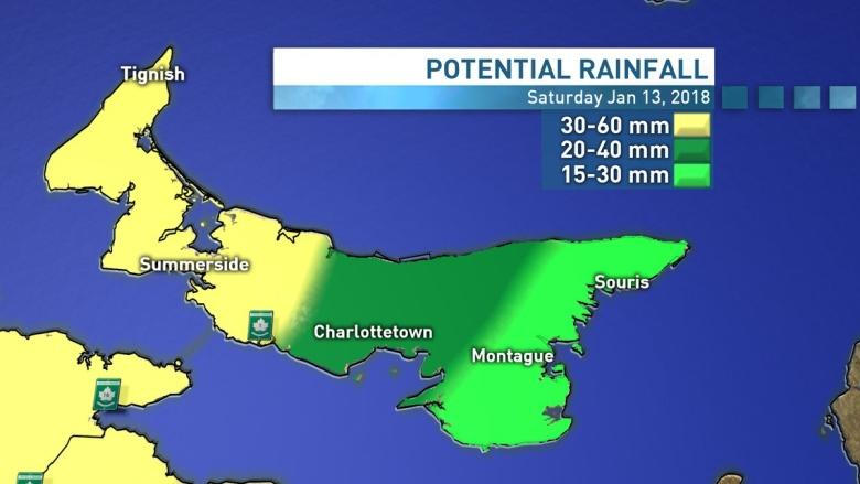 Heavy rain forecast to hit P.E.I., flash freeze warning issued