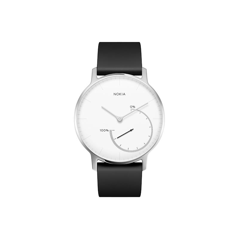 """<a href=""""https://fave.co/36cm9lp"""">Withings Nokia Steel Activity And Sleep Tracking Watch, John Lewis,</a> &pound;119.95 (Photo: Huffington Post UK )"""
