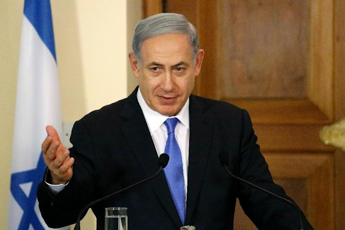 Israeli Prime Minister Benjamin Netanyahu, seen in Nicosia on July 28, 2015, will next week redouble efforts to scupper the international nuclear deal with Iran, making a personal appeal to Jewish groups across the United States (AFP Photo/Petros Karadjias)