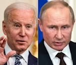 """I made very clear"" to Russian President Vladimir Putin ""that we are not going to seek escalation but their actions will have consequences,"" president Biden said"