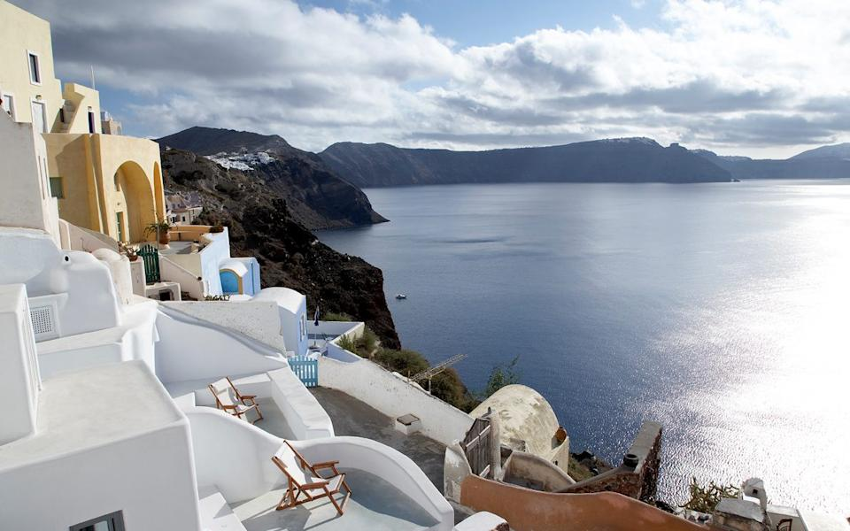The view from Villa Oia on the island of Santorini