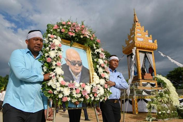 Nuon Chea was one of Pol Pot's most trusted deputies, and was sentenced to life in prison by a UN-backed tribunal for genocide against ethnic minority groups (AFP Photo/TANG CHHIN Sothy)