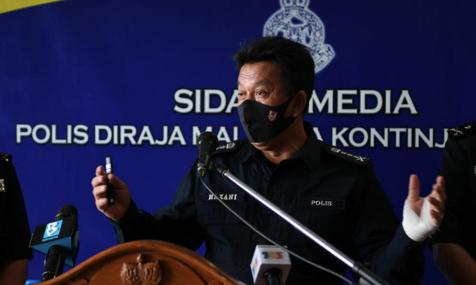 Hazani said the police are waiting on the Attorney General's Chambers for further instruction. — Bernama pic