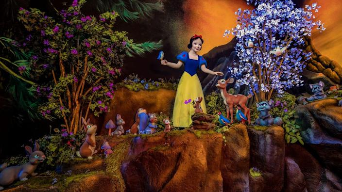 """Snow White's Enchanted Wish, an original Disneyland attraction, has undergone a magical reimagination for the ultimate storybook ending of """"happily ever after."""" State-of-the-art audio and visual technology allows guests to discover new surprises as well as enhanced story elements throughout."""