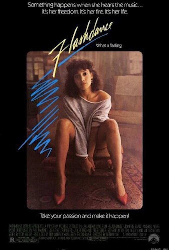 """<p>The title song, """"Flashdance…What a Feeling,"""" won, beating """"Maniac."""" Both songs were No. 1 hits, for Irene Cara and Michael Sembello, respectively. Cara co-wrote """"Flashdance"""" with Giorgio Moroder and Keith Forsey. Sembello co-wrote """"Maniac"""" with Dennis Matkosky. (Photo: Paramount Pictures) </p>"""