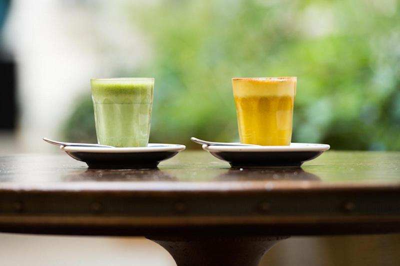 Matcha Tumeric Lattes at Rosewood London