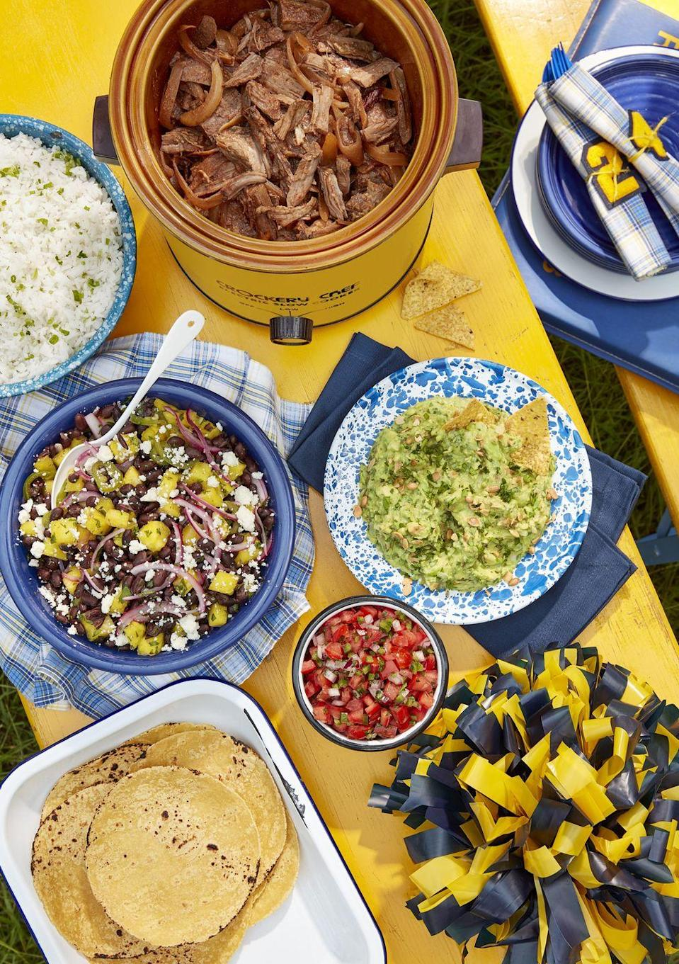 "<p>Tacos are a game-day classic. The slow cooker keeps the meat hot and tender, so you can help yourself all day long. While the meat, salsa, sour cream, and cheese are all diet-friendly, keep it truly keto with <a href=""https://www.amazon.com/Julian-Bakery-Gluten-Free-Grain-Free-Individual/dp/B085FZHLK8/?tag=syn-yahoo-20&ascsubtag=%5Bartid%7C10050.g.35131635%5Bsrc%7Cyahoo-us"" rel=""nofollow noopener"" target=""_blank"" data-ylk=""slk:low-carb tortillas"" class=""link rapid-noclick-resp"">low-carb tortillas</a>.</p><p><strong><a href=""https://www.countryliving.com/food-drinks/a24440705/smoky-slow-cooker-beef-tacos/"" rel=""nofollow noopener"" target=""_blank"" data-ylk=""slk:Get the recipe"" class=""link rapid-noclick-resp"">Get the recipe</a>.</strong></p><p><strong><a class=""link rapid-noclick-resp"" href=""https://www.amazon.com/Crock-Pot-SCCPVL610-S-6-Quart-Programmable-Stainless/dp/B004P2NG0K/?tag=syn-yahoo-20&ascsubtag=%5Bartid%7C10050.g.35131635%5Bsrc%7Cyahoo-us"" rel=""nofollow noopener"" target=""_blank"" data-ylk=""slk:SHOP SLOW COOKERS"">SHOP SLOW COOKERS</a><br></strong></p>"