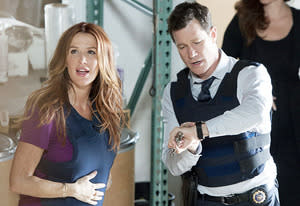 Poppy Montgomery and Dylan Walsh | Photo Credits: Jojo Whilden/CBS