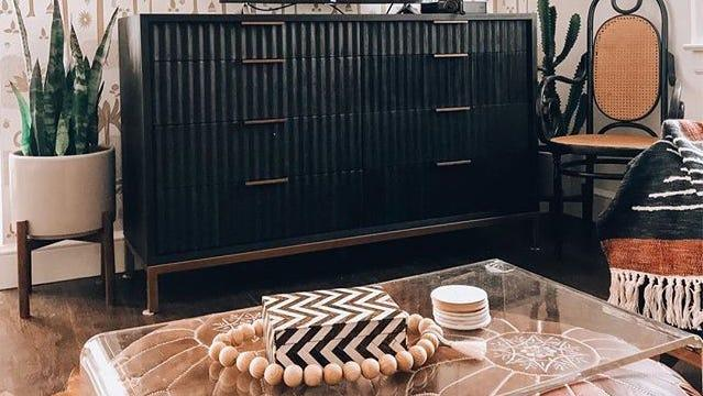 This unique dresser will stand out in any bedroom.