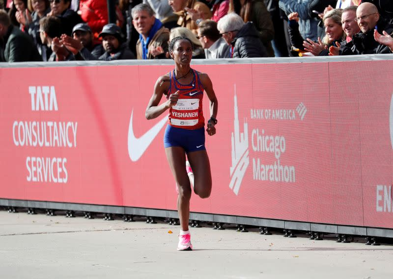 Ethiopia's Yeshaneh smashes half marathon world record by 20 seconds