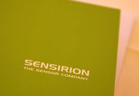 FILE PHOTO: A logo of Sensirion is seen during a news conference to present the planned IPO in Zurich