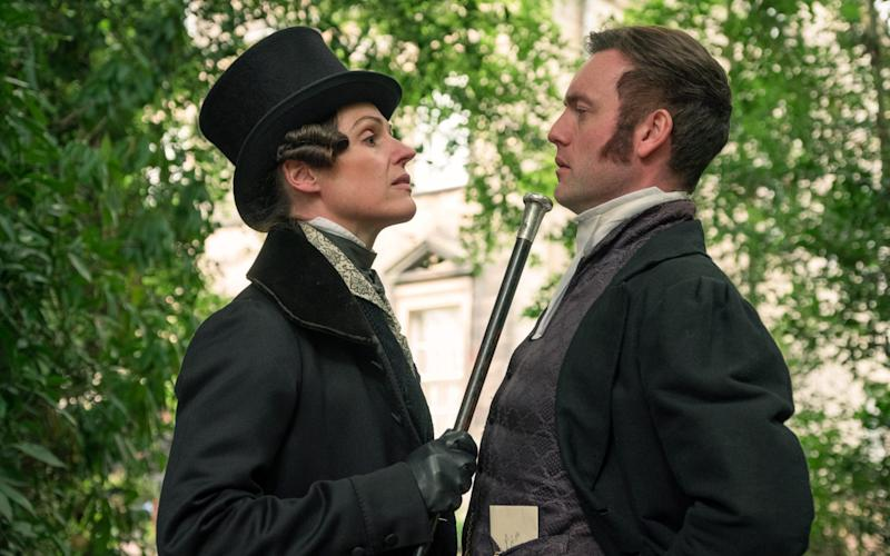 Suranne Jones as Anne Lister with Brendan Patricks as Thomas Ainsworth - WARNING: Use of this copyright image is subject to the terms of use of BBC Pictures' Digital Picture
