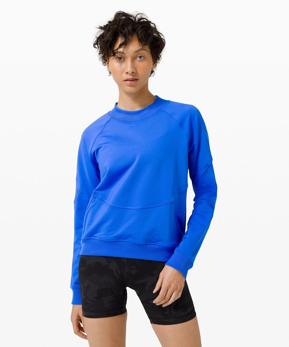 "<h2>Lululemon City Sweat Crew</h2><br>The fitness to athleisure-wear favorite's <a href=""https://www.refinery29.com/en-us/lululemon-sale-we-made-too-much-womens"" rel=""nofollow noopener"" target=""_blank"" data-ylk=""slk:We Made Too Much section"" class=""link rapid-noclick-resp"">We Made Too Much section</a> continues to kill it at the top of readers' carts, with this 48%-off fall-essential City Sweat Crew trending from September. Described as a relaxed style that's roomy enough to layer and crafted from super-soft material that wicks away sweat, the bestseller also packs a secret front-pocket punch.<br><br><em>Shop <strong><a href=""https://shop.lululemon.com/c/women/_/N-1z13zi2Z7vf?Ns=product.last_SKU_addition_dateTime%7C1"" rel=""nofollow noopener"" target=""_blank"" data-ylk=""slk:Lululemon"" class=""link rapid-noclick-resp"">Lululemon</a></strong></em><br><br><strong>lululemon</strong> City Sweat Crew, $, available at <a href=""https://go.skimresources.com/?id=30283X879131&url=https%3A%2F%2Fshop.lululemon.com%2Fp%2Fsale%2FCity-Sweat-Crew-MD%2F_%2Fprod920027"" rel=""nofollow noopener"" target=""_blank"" data-ylk=""slk:lululemon"" class=""link rapid-noclick-resp"">lululemon</a>"