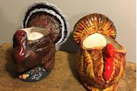 "<p>Most households in the early '80s adorned their Thanksgiving table with hand-painted ceramic planters, using them as <a href=""https://www.goodhousekeeping.com/holidays/thanksgiving-ideas/g1681/thanksgiving-centerpieces-easy-elegant/"" rel=""nofollow noopener"" target=""_blank"" data-ylk=""slk:centerpieces"" class=""link rapid-noclick-resp"">centerpieces</a> or to hold silverware, napkins, and the like. Today, vintage Stanfordware or Napco turkeys can be found on <a href=""https://go.redirectingat.com?id=74968X1596630&url=https%3A%2F%2Fwww.etsy.com%2Flisting%2F198080722%2Fvintage-ceramic-tom-turkeyplanternapkin%3Fga_order%3Dmost_relevant%26ga_search_type%3Dall%26ga_view_type%3Dgallery%26ga_search_query%3Dturkey%2Bplanter%26ref%3Dsr_gallery_13&sref=https%3A%2F%2Fwww.redbookmag.com%2Flife%2Fg34669607%2F100-years-of-thanksgiving%2F"" rel=""nofollow noopener"" target=""_blank"" data-ylk=""slk:Etsy"" class=""link rapid-noclick-resp"">Etsy</a> and eBay to give your celebration a touch of vintage flare.</p>"