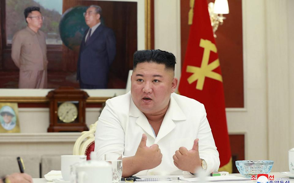 North Korean state media say Kim Jong-un will protect the health of his people 'at any cost' - STR/AFP