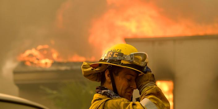 california wildfires firefighter