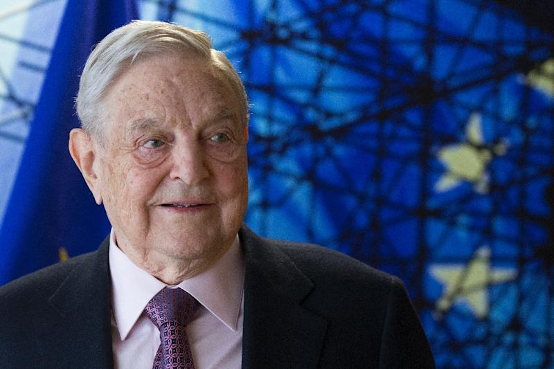 George Soros has been branded a 'public enemy' by Hungarian Prime Minister Viktor Orban (AFP Photo/OLIVIER HOSLET)