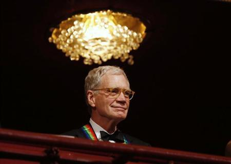 TV talk show host David Letterman is pictured on the balcony at the 2012 Kennedy Center Honors in Washington