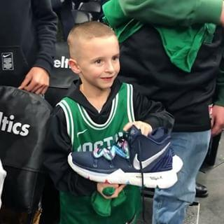 pretty nice 6781a 6c0b5 NBA Star Kyrie Irving Gifts a Young Fan a Pair of Game-Worn Nike ...