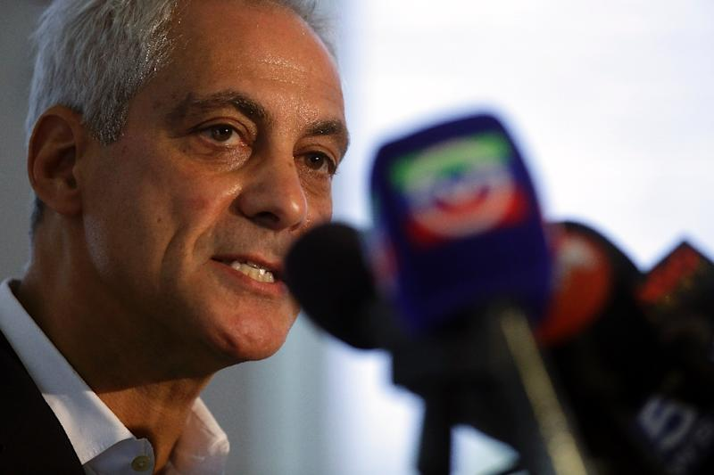 """Chicago Mayor Rahm Emanuel is angry about the resolution of the Jussie Smollett case without trial, calling it a """"whitewash of justice"""" (AFP Photo/Joshua LOTT)"""