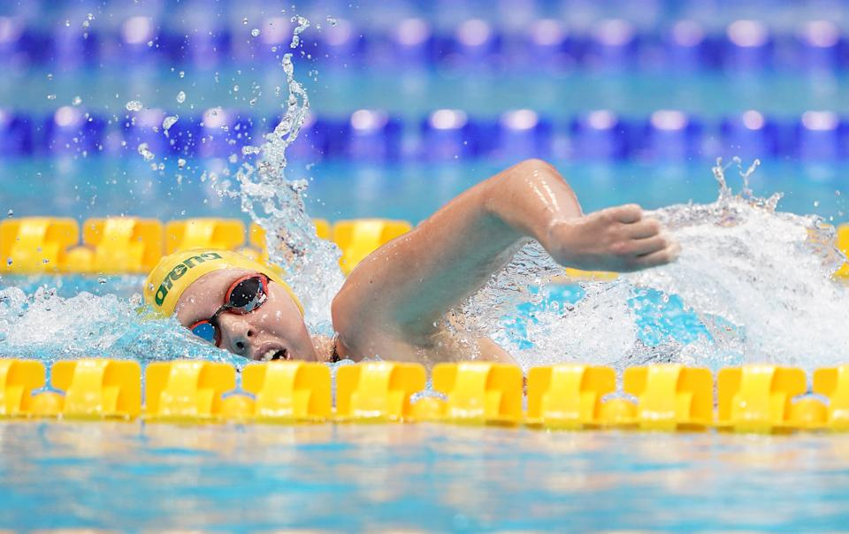 Australia's Lakeisha Patterson swims in the Women's 400m Freestyle on day five of the 2019 World Para Swimming Allianz Championships at The London Aquatic Centre, London.
