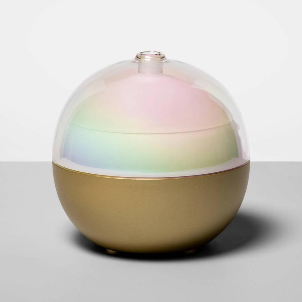 <p>Set their ambiance with the stunning <span>Opalhouse 300ml Color-Changing Oil Diffuser in White/Gold</span> ($28).</p>