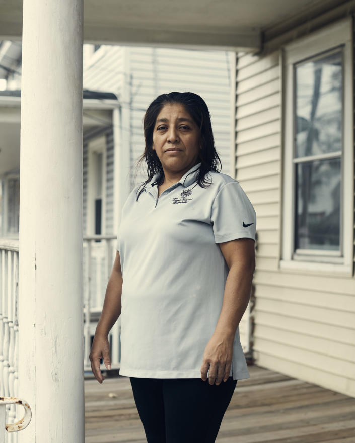 Victorina Morales, an undocumented immigrant from Guatemala who worked at Trump National Golf Club in Bedminster, N.J., at her home in Bound Brook, N.J., Nov. 2, 2018. (Christopher Gregory/The New York Times)