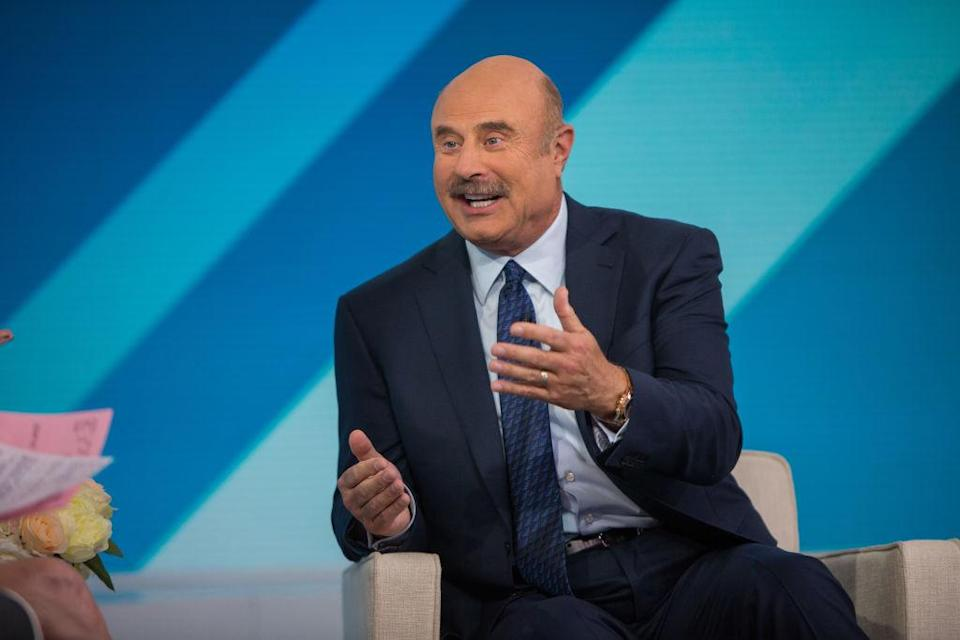 Dr. Phil reacts to reports that he was selling his $5.75M home on <em>The Talk</em>. (Photo: Nathan Congleton/NBC/NBCU Photo Bank)