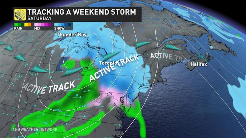 ontario weekend storm potential